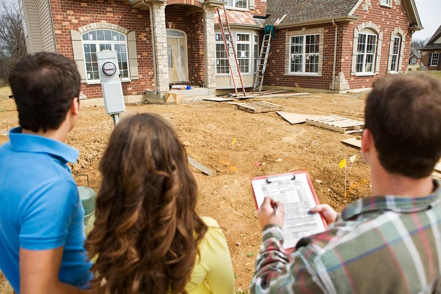 Choosing a home builder involves previewing a worksite for the new home