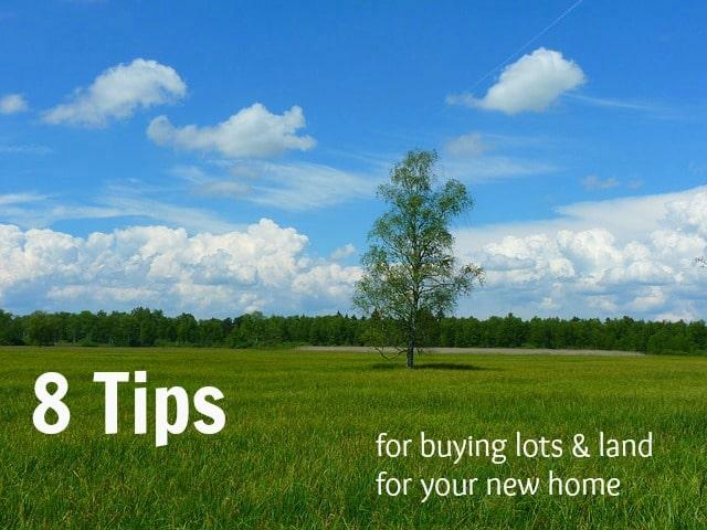 8 Tips for buying lots and land - open field with tree