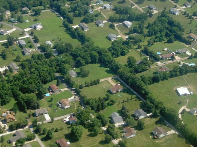 View of Neighborhood from Above