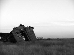 Scary shack falling down