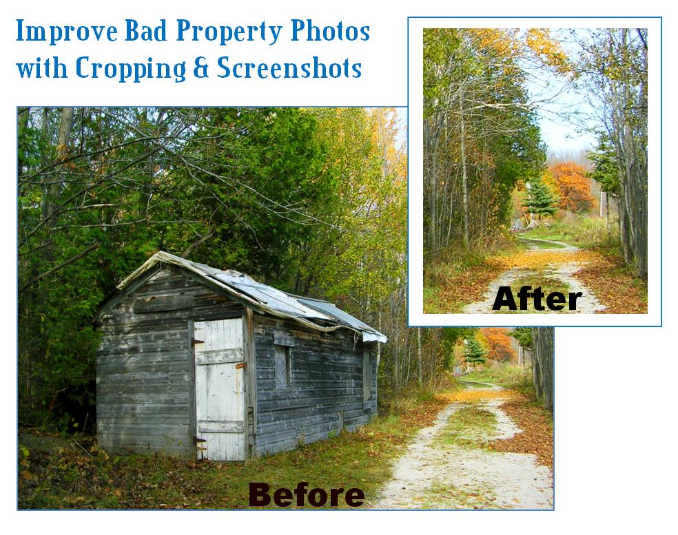 Improve Bad Property Photos with Cropping and Screenshots