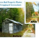 Improve Bad property photos with screenshots and cropping photos