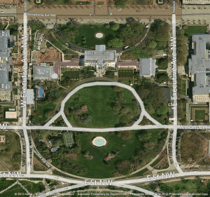Aerial View of The White House - Captured Using A Screenshot Tool
