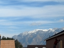 Cropping the Image Focuses on Beautiful Mountain View from the Lot