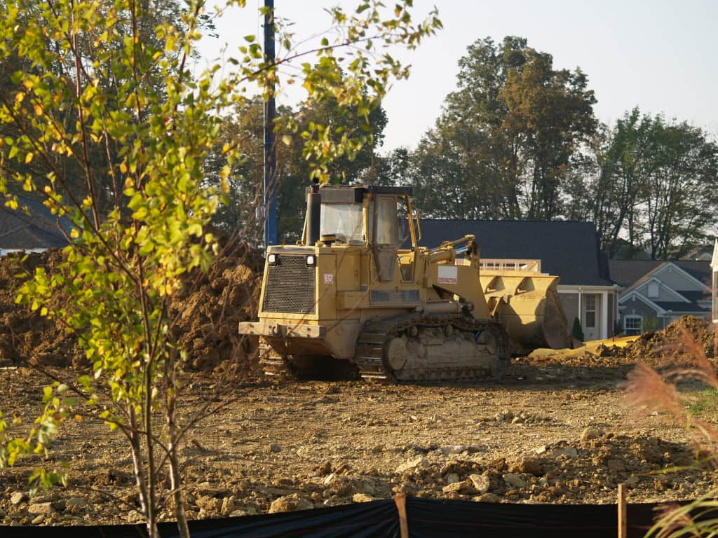 Sitework is Underway to Prepare a Lot for Sale