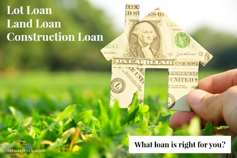 What loan is right for you? - Lot Loans, Land Loans or Construction Loans