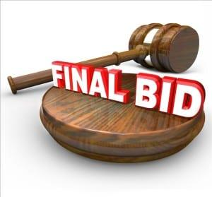 Final Bid Wins if You Buy Land at Auction