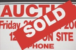 Sign Showing success selling at Auctoin