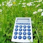calculator in grass - converting sf to acres